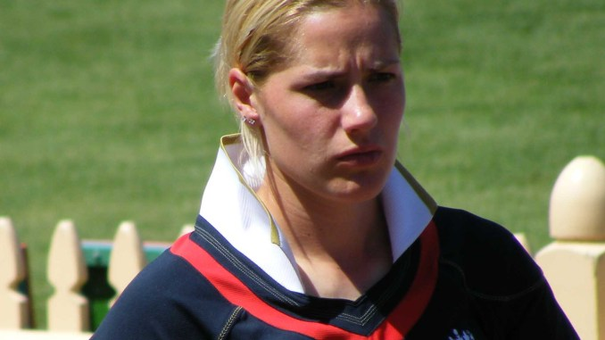 Photo of Katherine Brunt - key performer in the England Vs New Zealand Women Series