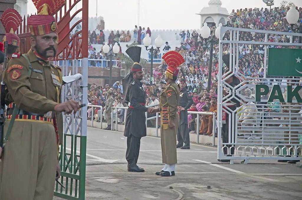 Photo of Wagah border, where India-Pakistan meet