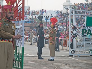 Photo of Wagah border, where India-Pakistan meet