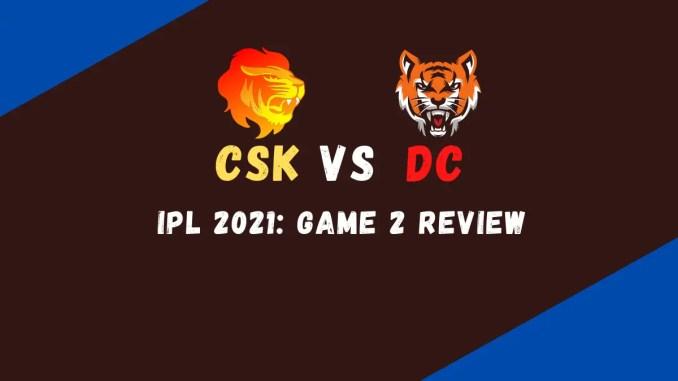 CSK Vs DC Match Review Banner
