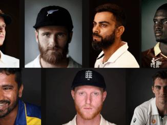 Graphic of players from the recent great Test matches