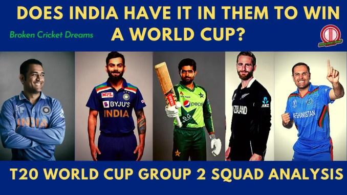 Group 2 2021 T20 World Cup Squads - Photo of captains Virat Kohli, Babar Azam, Kane Williamson, and Mohammad Nabi