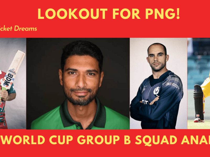 Group B 2021 T20 World Cup squads: Picture of captains Mahmudullah, Coetzer, Assad Vala, and Maqsood.