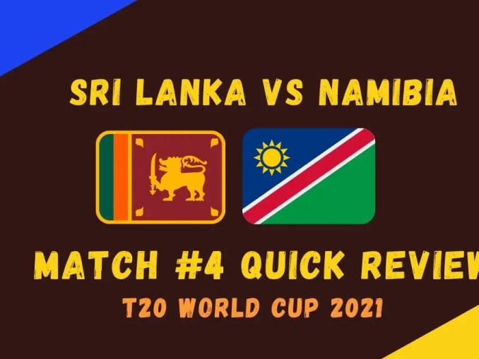 Sri Lanka Vs Namibia Graphic