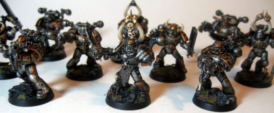 Iron Warrior Squad Three Close Up on Champion