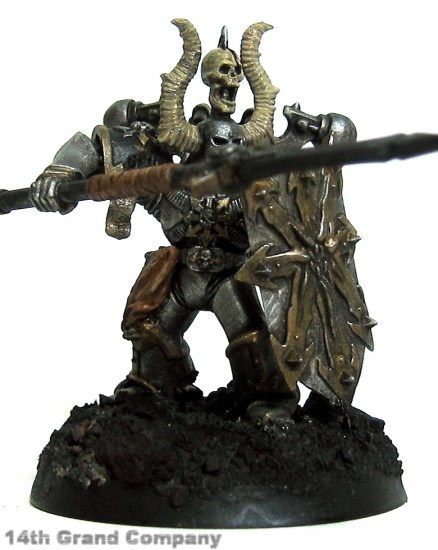 How I paint Iron Warriors, Part 3: Bone, Step 2: Khemri Brown and Bleached Bone