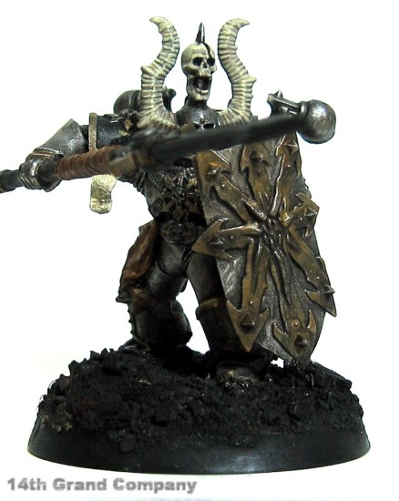 How I paint Iron Warriors, Part 3: Bone, Step 3: Bleached Bone