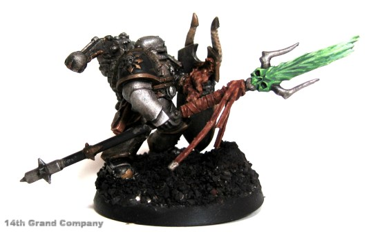 How I paint Iron Warriors, Stage 4: Daemon Sword, Step 5: Skull White