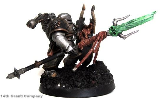 How I paint Iron Warriors, Stage 4: Daemon Sword, Step 6: Thraka Green Wash