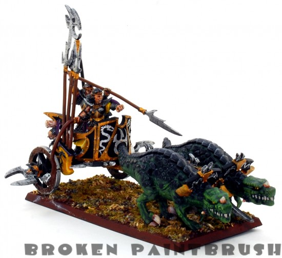 Dark Elf Chariot - Front Left Side