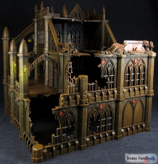 Pegasus Gothic Buildings for 40k ruin back