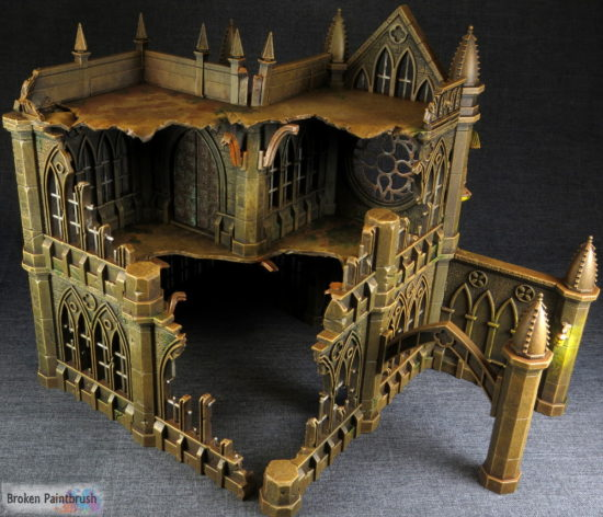 Another Pegasus Gothic Buildings for 40k large ruin