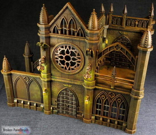 Pegasus gothic buildings for 40k terrain for Decor 40k