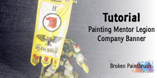 Painting Custom Space Marine Banner Tutorial