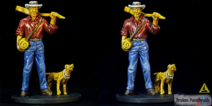 Painting the jeans 2 on Ashcan Pete from Mansions of Madness