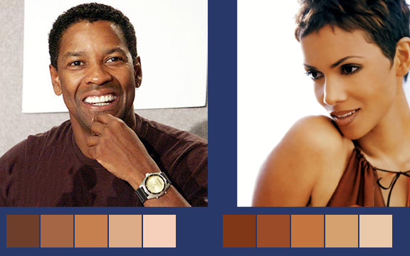 African American Skin tones palette