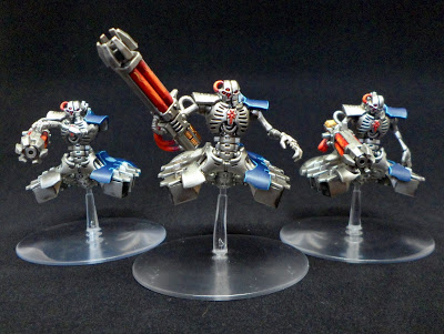 Necron Destroyers with Blue Armor