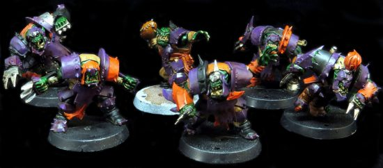 Blood Bowl Orc Team Work in Progress and Painting Guide
