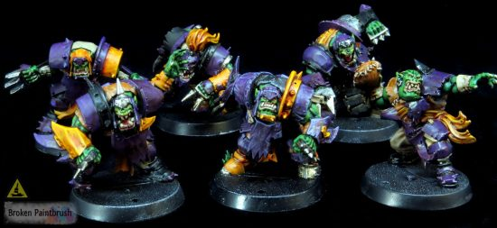Painting the Orc Blood Bowl Team