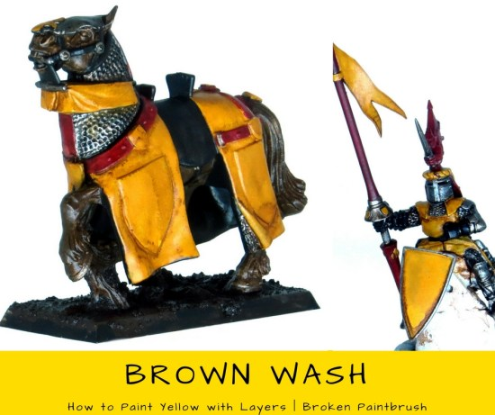 How to Paint Yellow with Layers - Wash