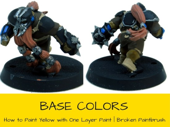 Using One Coat Yellow - Base Colors