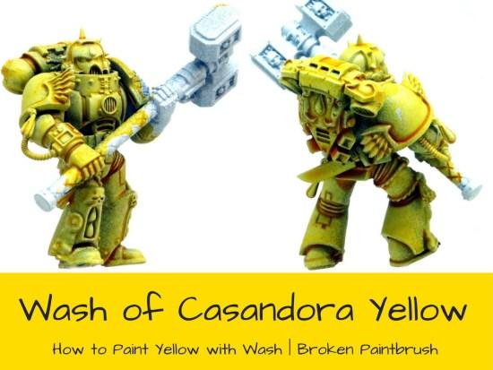 Candora Yellow over White Primer