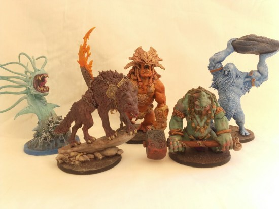 Painted Miniatures from Blood Rage Game