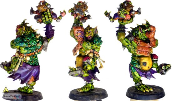 Painting the troll's scales jade green