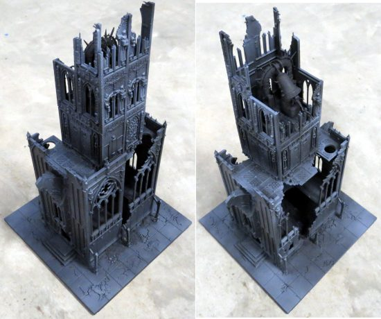 Games Workshop Shrine of Aquila Bell Tower WIP