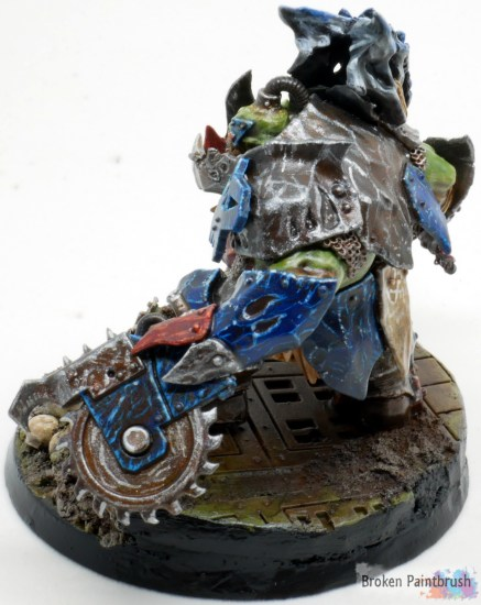 Ork Megaboss conversion with buzz saw hand