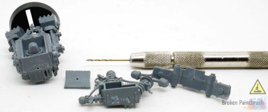 Magnetizing the Big Mek's Back Options drilling pilot holes