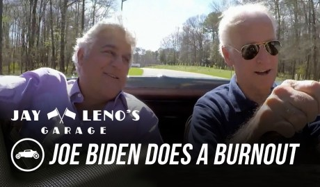 Joe Biden Does a Burnout In His Corvette Stingray - Jay Leno's Garage