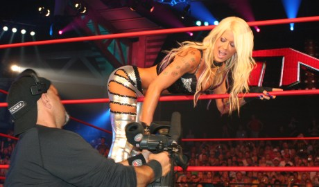 How did Angelina Love Break Into Wrestling?