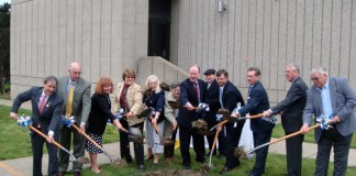 The groundbreaking ceremony. (Branden Klayko / Broken Sidewalk)