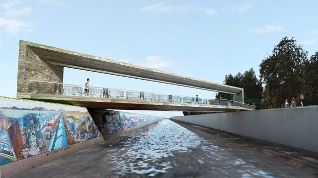 Art Bridge over the Los Angeles River (courtesy wHY Architects)