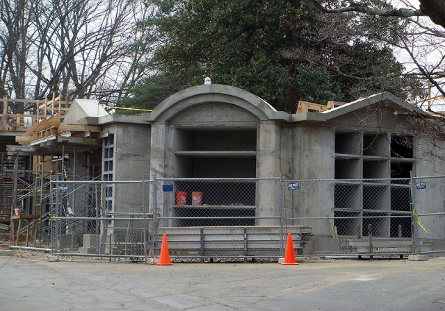 Lakeview Mausoleum under construction in Cave Hill