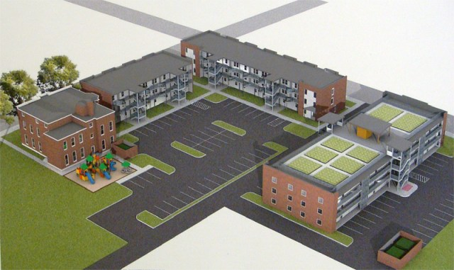 Downtown Scholar House (rendering by Girdler Group & Gil Stein Architects)