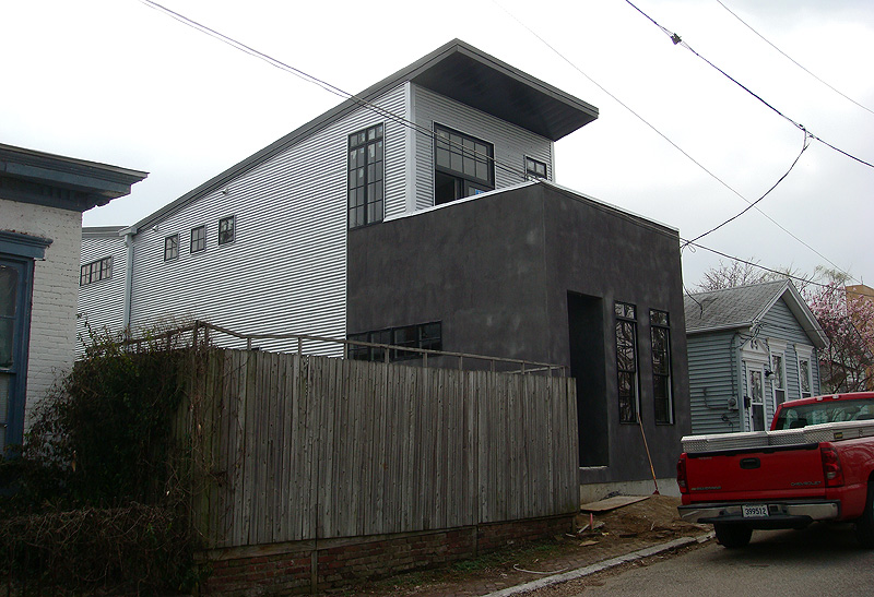 Simple Modern Shotgun House on Hull Street