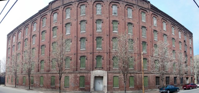 Large brick warehouse in Shippingport