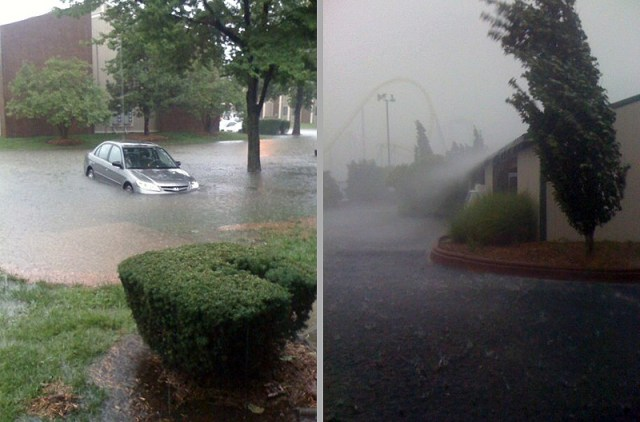 Flooding near Kentucky Kingdom (photo courtesy tipster)