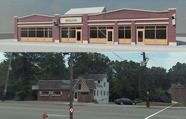Planned Changes to Breland Realtors building (courtesy Breland Realtors, Google)