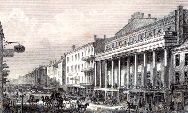 Louisville Hotel on West Main Street (BS File Engraving)