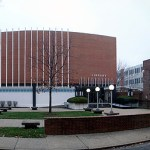 Interior courtyard at Spalding University