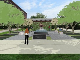 Rendering of Trager Plaza (Courtesy University of Louisville)