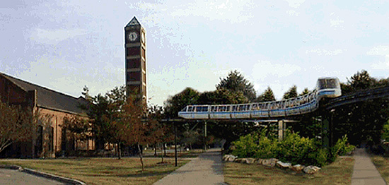 Monorail on UL Belknap Campus (Courtesy Scott Ritcher)