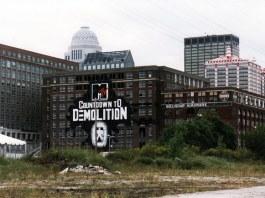 Belknap Hardware buildings before implosion (Courtesy SteveBillieJene / flickr)