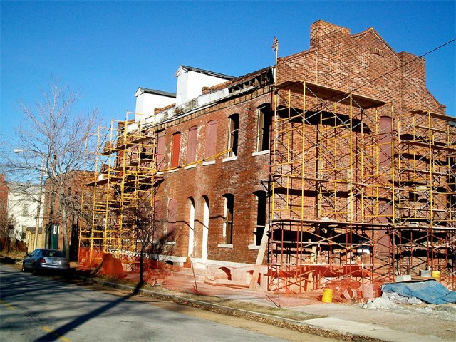 Rowhouse under renovation (Courtesy Dotage St. Louis)