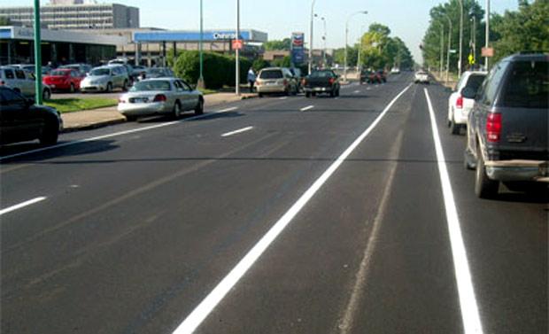 New bike lane on 8th Street (Courtesy Bike Louisville)