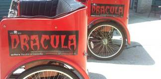 Dracula advertisements on Louisville pedicabs (Actors Theater)