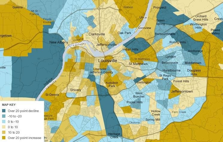 Census Roundup: Mixed News for Louisville — Broken Sidewalk
